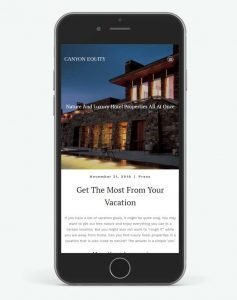 mobile seo web development hospitality industry canyon equity