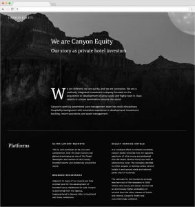 seo web development hospitality industry canyon equity
