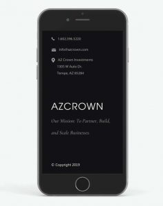AZ Crown Investments Mobile SEO Web Development