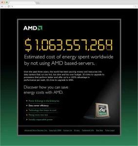 AMD website design and development